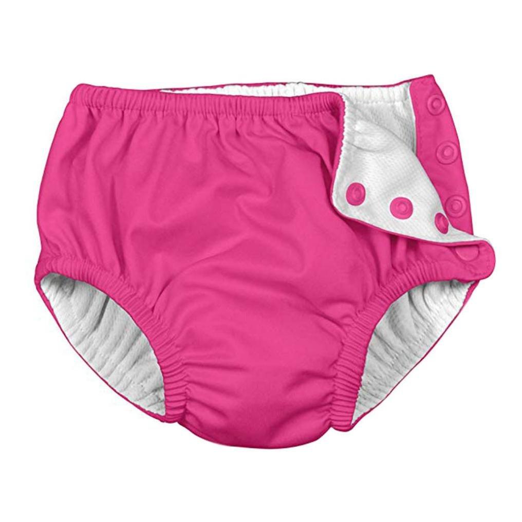 Jamicy Baby Badehose für Baby & Kleinkind Jungen Mädchen Solid Snap wiederverwendbare absorbierende Schwimmen Windeln, bequem, sicher und umweltfreundlich, in einer Vielzahl von Farben und Größen erhältlich (70, Hot Pink) Jamicy004