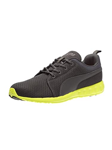 Puma Men s Carson Runner IDP H2T Asphalt and Safety Yellow Running Shoes -  10 UK  8cffcd659