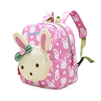 Mochila Infantil/PequeñA Bebes Guarderia Bolsa Lindo Conejo Animales Bambino Mochila para pequeño niñas Rosa: Amazon.es: Equipaje