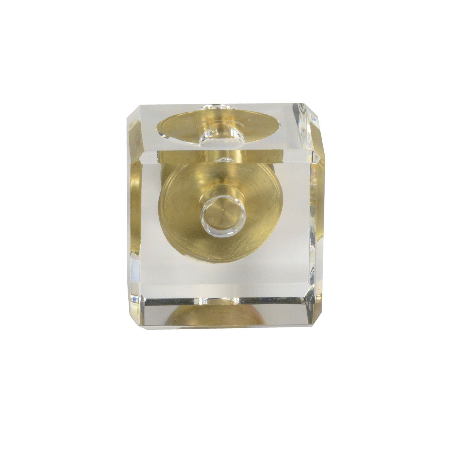 #G-80 CKP Brand Elegance Glass Collection Clear Glass Knob with Satin Brass Base - 25 Pack by CKP (Image #2)