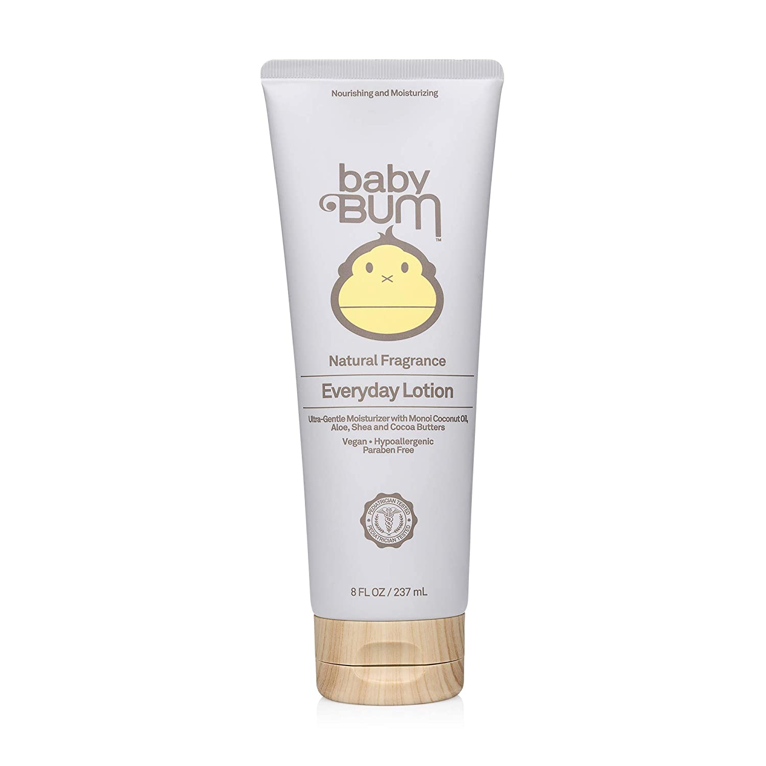 Baby Bum Everyday Lotion | Moisturizing Baby Lotion for Sensitive Skin with Shea and Cocoa Butter | Natural Fragrance | Gluten Free - 8 OZ Bottle