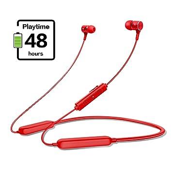 gorsun Bluetooth 5.0 Headphones IPX5 Waterproof Sport Earphones Magnetic In-ear Wireless Earbuds,48 Hours Playtime Sports Microphone with microphone