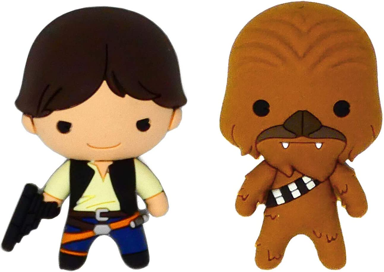 Star Wars Han Solo and Chewbacca 3D Foam Kitchen Refrigerator Fridge Magnet (2 Pack)