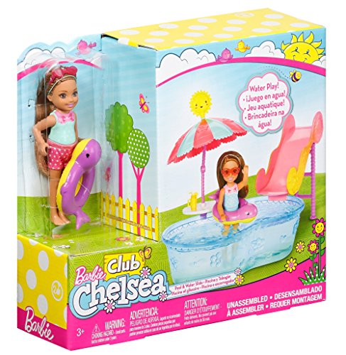 Barbie Club Chelsea Pool Water Slide Playset Import It All