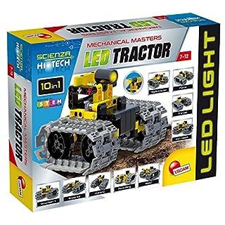 Lisciani 66124 Scienza Hi Tech Stem Technics 10 in 1 Led Tractor, Multicolour, One Size