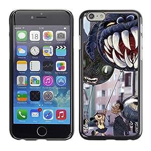 PC/Aluminum Funda Carcasa protectora para Apple Iphone 6 Jaws Teeth Children'S Halloween / JUSTGO PHONE PROTECTOR