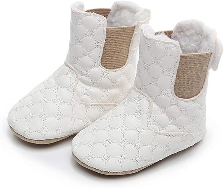 58227c160215d Chaussures Enfants ADESHOP Mode Nouveau-né bébé Filles garçon Couleur Pure  Bottes Hiver Chaud Épaissir