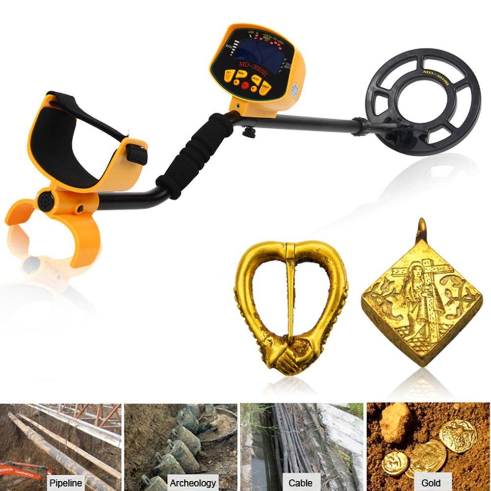 Detector de metales tesoros Hunter bobinas impermeables, pantalla LCD, Deep Target Power bobinas, búsqueda de tesoro digital, 8 ajustes de sensibilidad, ...