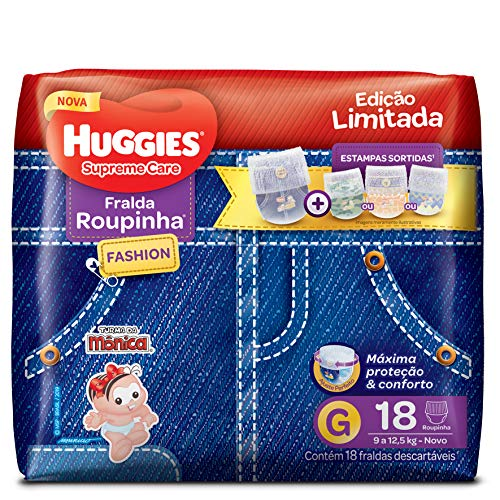 Huggies Fralda Supreme Care Roupinha Fashion G, 18 Unidades
