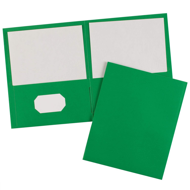 Avery Two-Pocket Folders, Green, Case Pack of 125 Folders (47987)