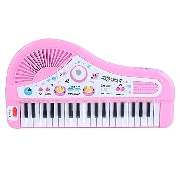 Piano para Niños Teclado Electrónico Piano con Micrófono 37 Teclas Regalo para Niños Juguete de Música
