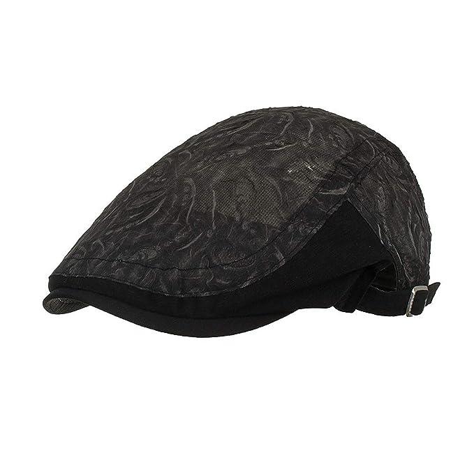 Newsboy Cap Baker Boy Eight-Panel Hat Women Summer Visor Hat Sunhat Mesh  Running Sport 75692c4ed9d