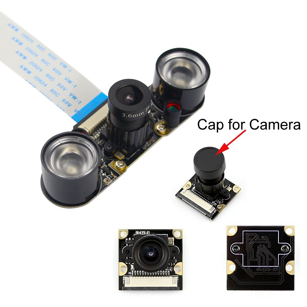 kuman for Raspberry PI Camera Module 5MP 1080p OV5647 Sensor HD Video Webcam Supports Night Vision SC15 (OV5647 Sensor Camera)