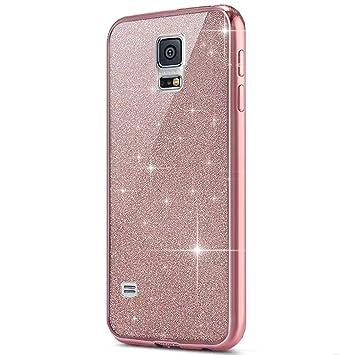 Ukayfe Funda Samsung Galaxy S5,[Brillo Brillante Serie ...
