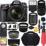 ZeeTech Budles D7200 Black Digital SLR Camera with 18-140mm VR & 70-300mm f/4-5.6 SLD DG Macro Telephoto Lens + 64GB Accessory Bundle (Pro Bundle)