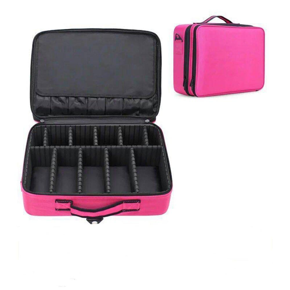 【スーパーセール】 3 Layers Professional旅行メイクアップコスメティックケースオーガナイザー ピンク、メイクアップTrain Caseアーティストストレージバッグストレージボックスwith調節可能な肩のメイクアップブラシセットヘアスタイルネイルビューティーツール Medium S ピンク B07BD26WVL Layers Medium|ピンク ピンク Medium, ハクバストア:f12a70f3 --- egreensolutions.ca