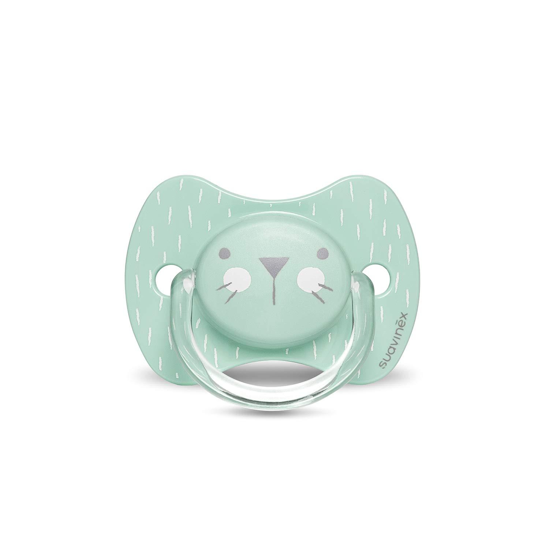 Suavinex Chupete para beb/és 0-6 meses Color rosa. 0/% BPA Chupete con tetina anat/ómica de silicona