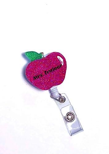 Teach Badge Reel Teach Custom Badge Reel Badge Reel Teacher Badge Reel Glitter Badge Reel
