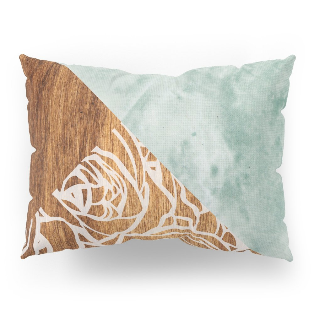 Society6 Wood + Geometric Pattern Pillow Sham Standard (20'' x 26'') Set of 2 by Society6 (Image #1)