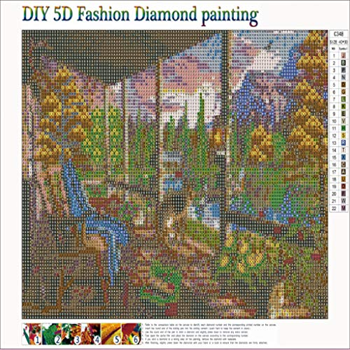 MomeDIY 5D Diamond Painting by Number Kits, Art Craft Embroidery Paintings Rhinestone Pasted DIY Diamond Painting Cross Stitch (Beautiful Landscape) (B) by MOME~Home Decorations (Image #2)
