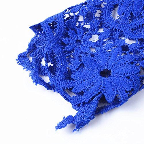 lgant Grey Blouse Longues Cou Dentelle Hauts Creux Chemise Manches Crochet O Femme fYT6vwPAqv