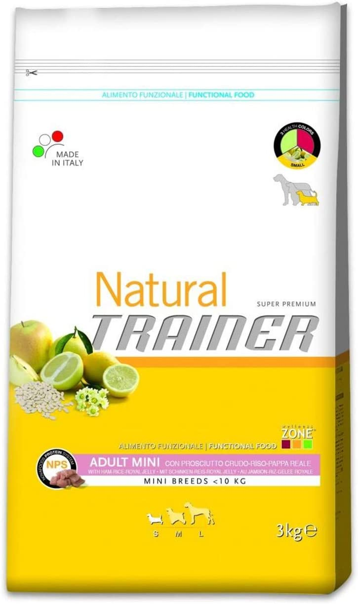 Trainer Natural Adult Mini jamon, arroz y jalea real 2 Kg