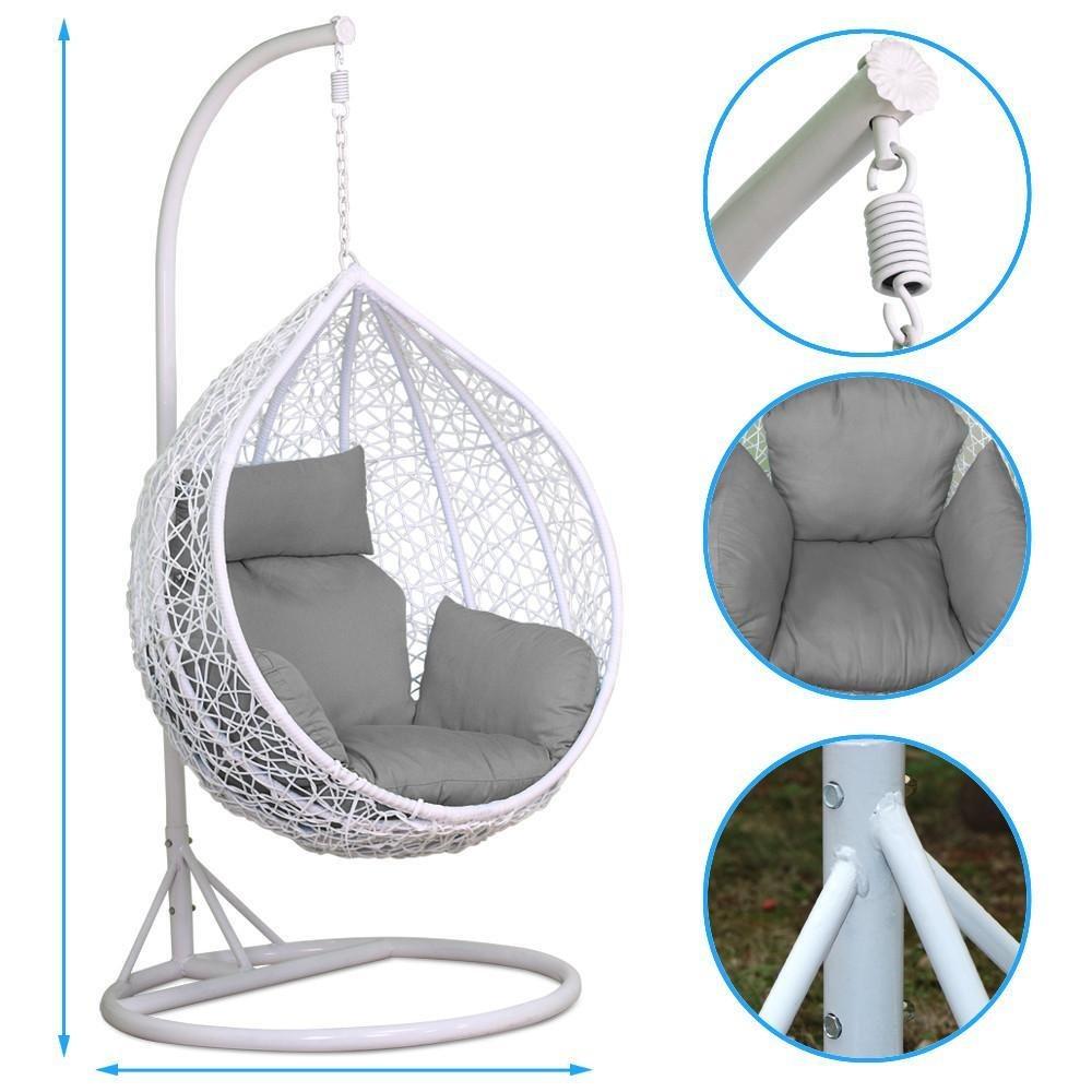 Yaheetech Rattan Swing Chair Patio Garde Buy Online In Chile At Desertcart