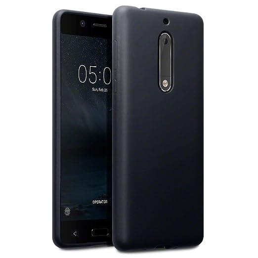 3 opinioni per Terrapin TPU Gel Custodia per Nokia 5 Cover, Colore: Opaco Nero