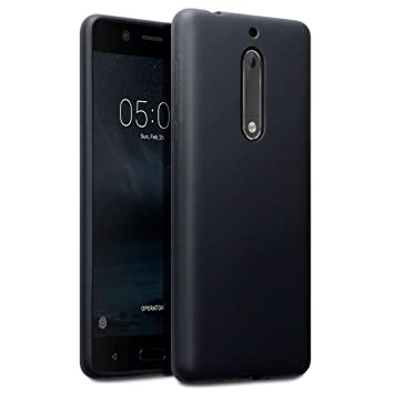 new style 21cca 95bf3 TERRAPIN, Compatible with Nokia 5 Case, TPU Gel Cover - Solid Black Matte  Finish