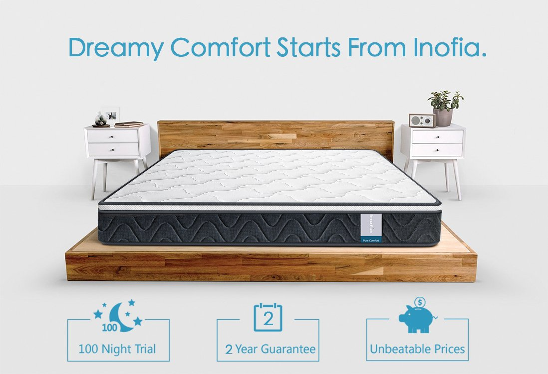 amazon com single mattress inofia luxury twin mattress innerspring