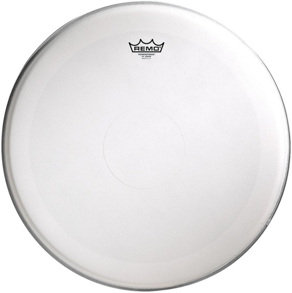 Remo Powerstroke 4 Coated Batter Drum Head with Clear Dot 18 in. P4-0118-C2-