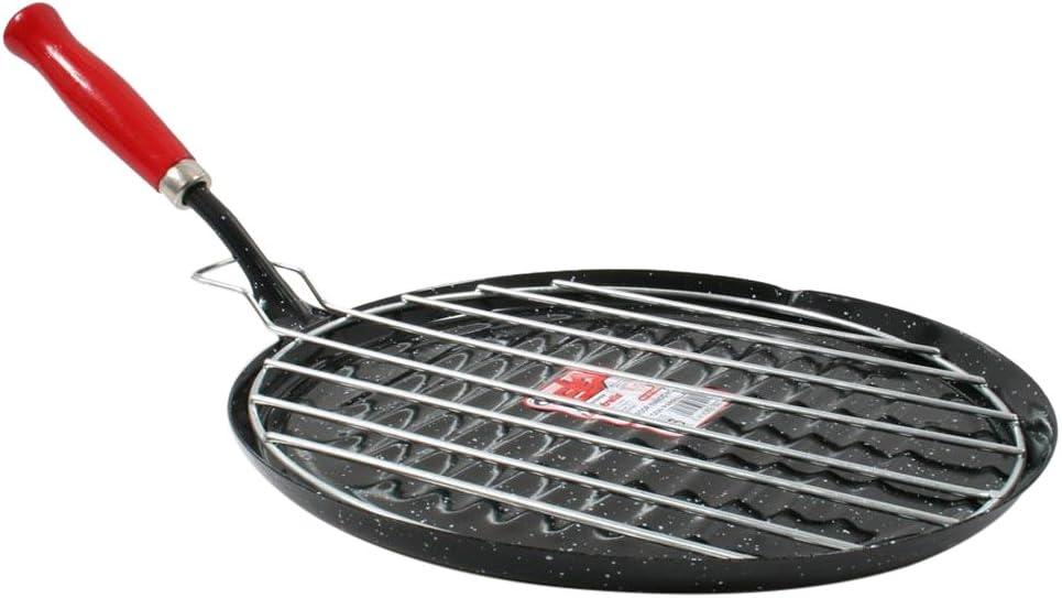 Wurko Asador esmaltado, Aluminio, Negro, pequeño