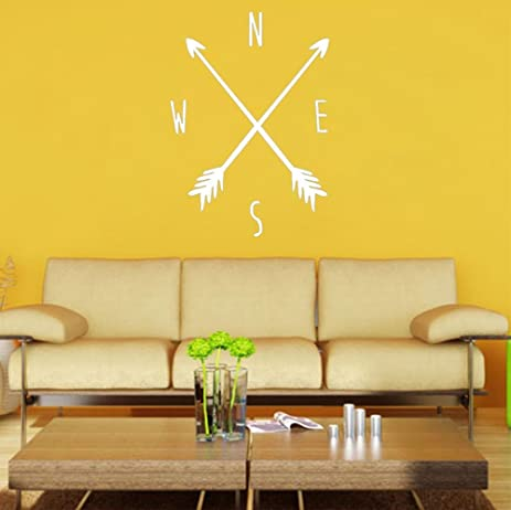 Amazon.com: BIBITIME White Arrows Compass Wall Decals Tribal ...