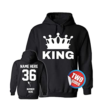 King Queen Hoodies - Matching Couple Sweaters Valentines Sweatshirts for Couples
