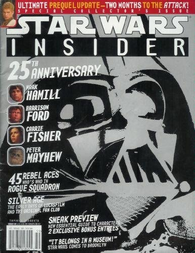 STAR WARS INSIDER June, 2002 Number 59 (25th Anniversary. Mark Hamill. Harrison Ford. Carrie Fisher. Peter Mayhew.)