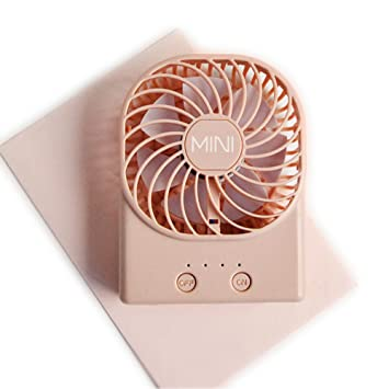 DULPLAY Mini USB FAN,Personal FAN Sling mini handheld FAN,Led lighting,Student dormitory Cooling USB rechargeable Quiet Office home-H 13.4x9.4x3.5cm 5x4x1inch