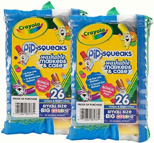 Crayola Pip Squeaks Marker Portfolio 26 Pkg