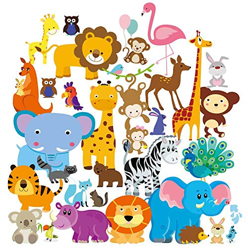 Baby Jungle Animal Decals Nursery product image