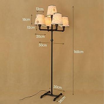 FGLDD Sala de Estar Minimalista Americana lámpara de pie de ...