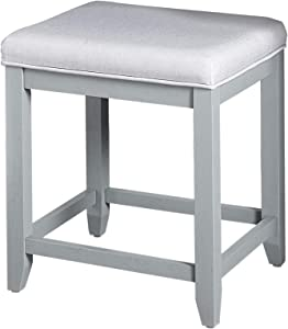 Crosley Furniture Vista Vanity Stool, Vintage Grey