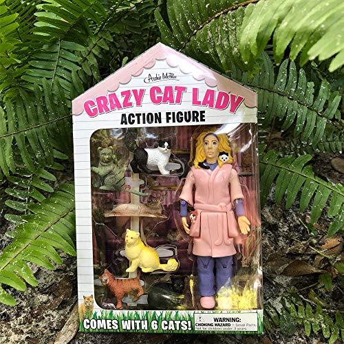 Accoutrements 12470 Crazy Cat Lady Action Figure Set, Multicolor