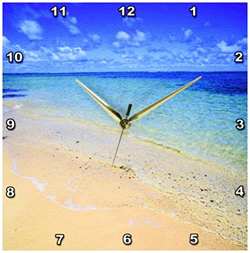 3dRose dpp_89643_2 Lanikai Beach, Oahu, Hawaii-Us12 Dpb0783-Douglas Peebles-Wall Clock, 13 by 13-Inch by 3dRose