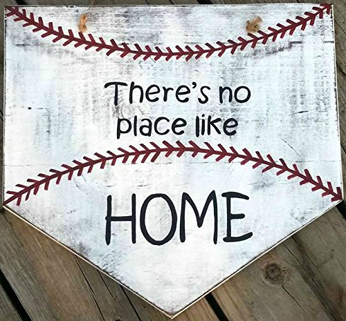 Baseball Sign   Theres No Place Like Home   Wooden Softball Sign   Home  Plate Baseball