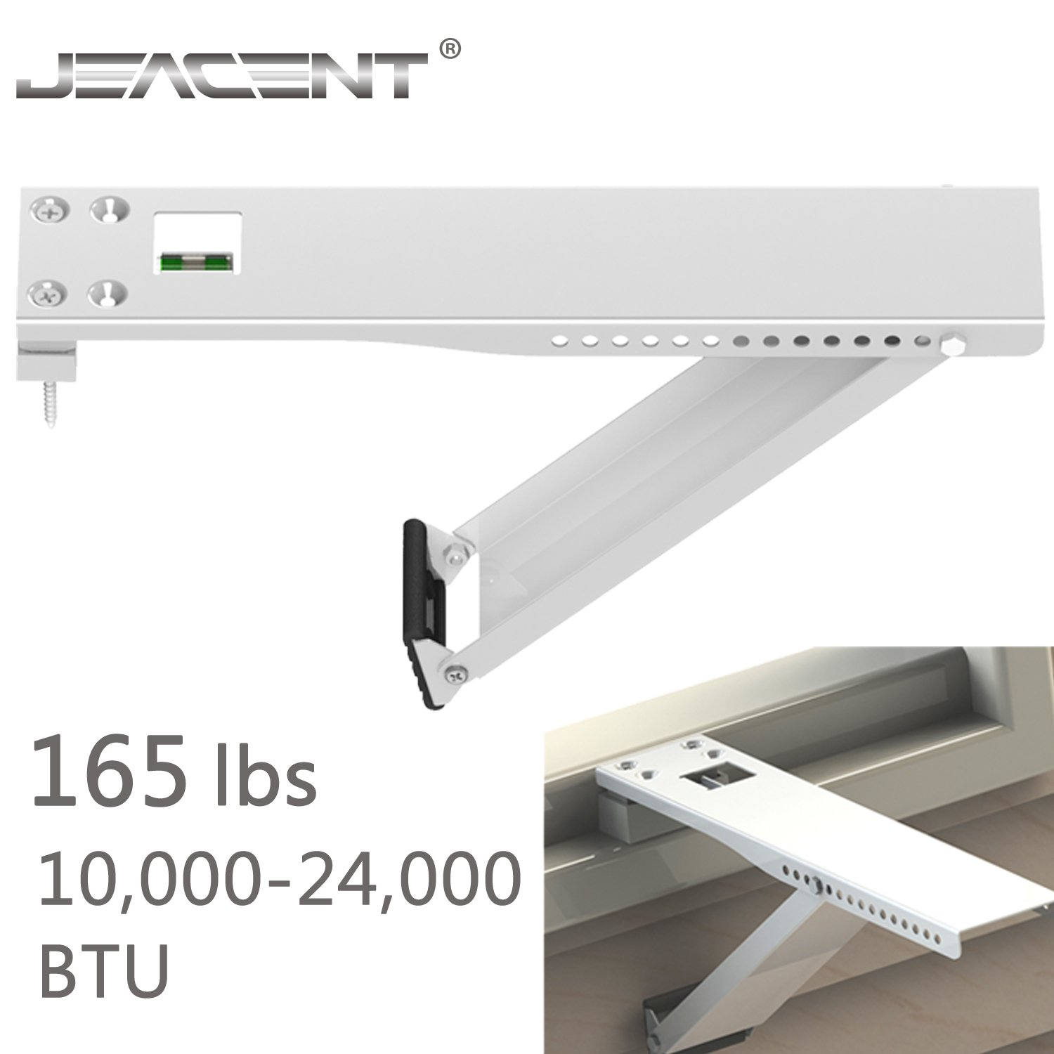 Jeacent Universal AC Window Air Conditioner Support Bracket Heavy Duty  Up to 165 lbs  for 10 000-24 000 BTU Jeacent Innovations PC01B-1