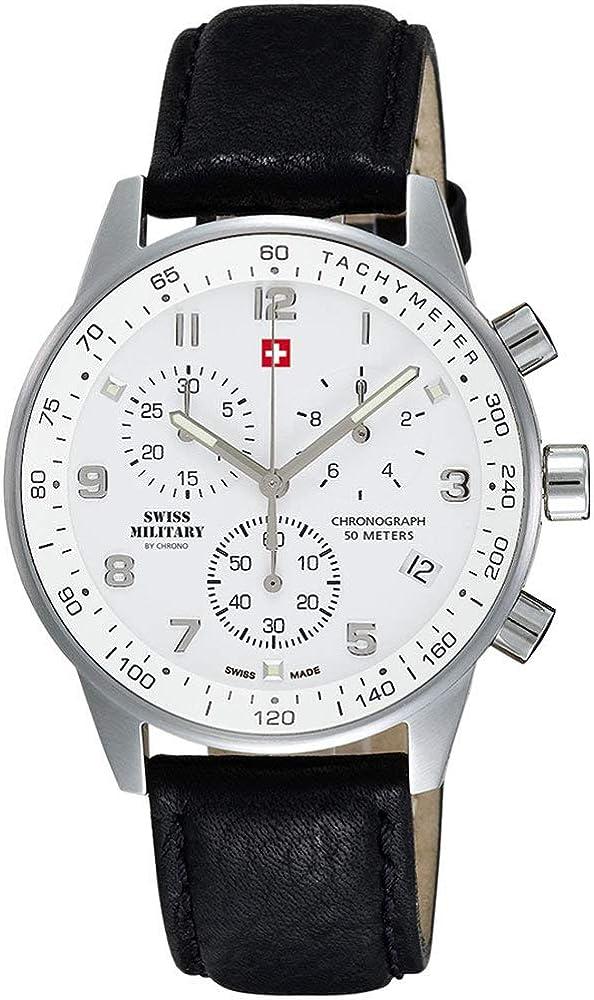 Swiss Military Herren-Armbanduhr, Chronograph, 20042ST-2L