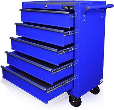 Armario para herramientas US Pro Tools, caja de herramientas con ruedas color azul: Amazon.es: Bricolaje y herramientas