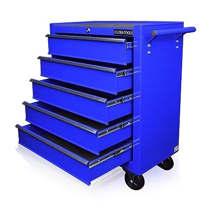 Armario para herramientas US Pro Tools, caja de herramientas con ruedas color azul