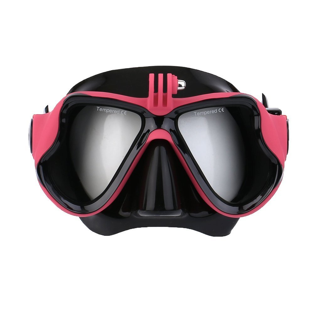 Underwater Camera Plain Diving Mask Scuba Snorkel Swimming Goggles for GoPro