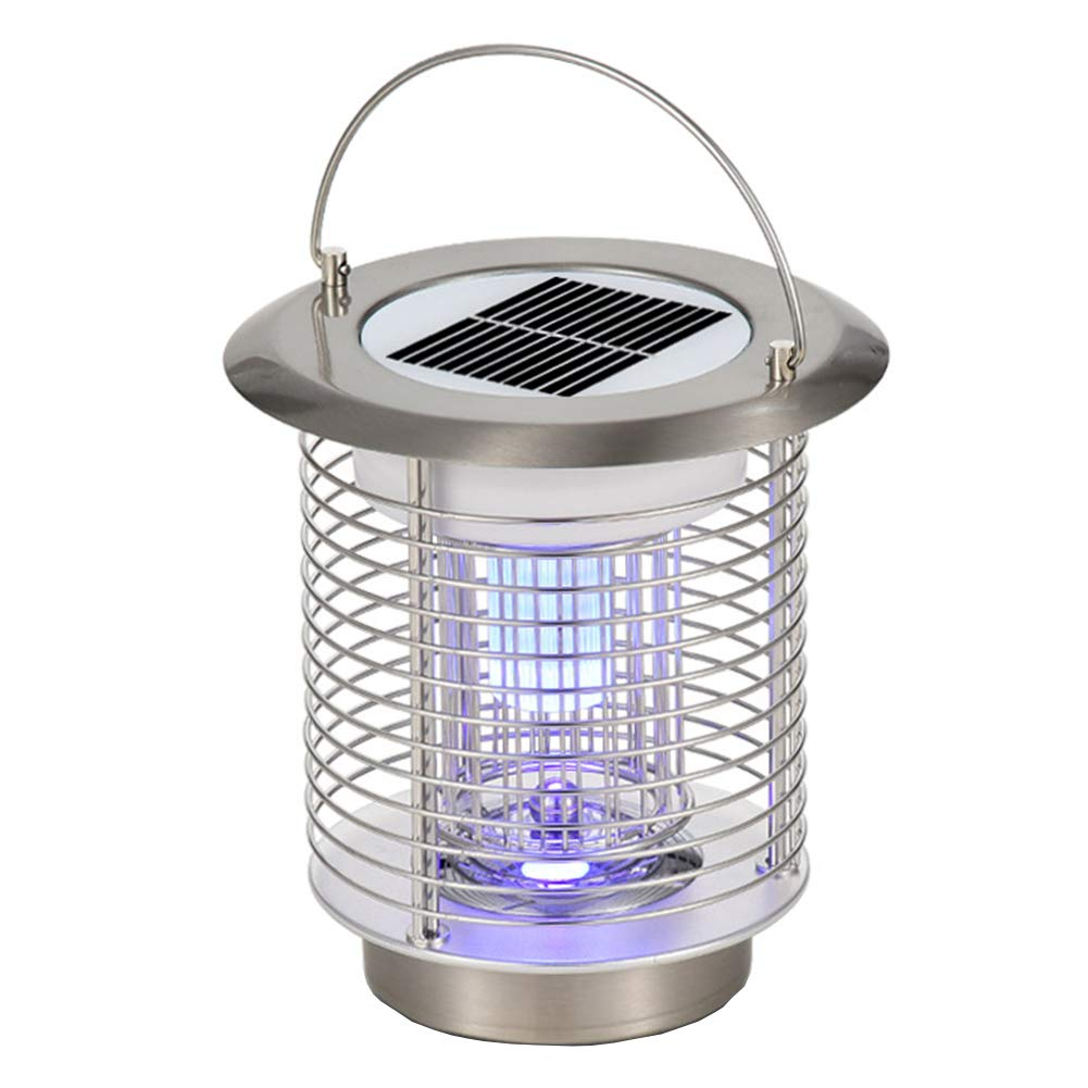 GutReise Solar Electric Bugs Fly Mosquito Light Lamp, Indoor Outdoor Garden Modern Flashion LED Light Lamps for Residential House Garden Farm Commercial