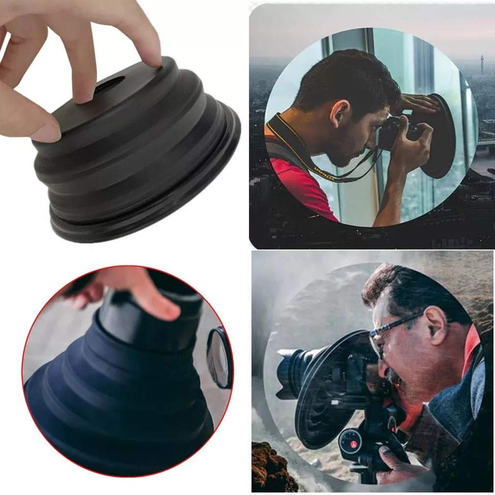 Colorcasa Professional Anti-Reflective Lens Hood 2019 (Small + Large)